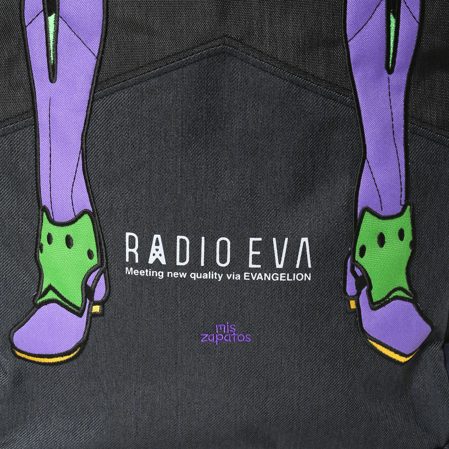 EVANGELION Bicolor Back Pack by mis zapatos (ブラック(初号機))