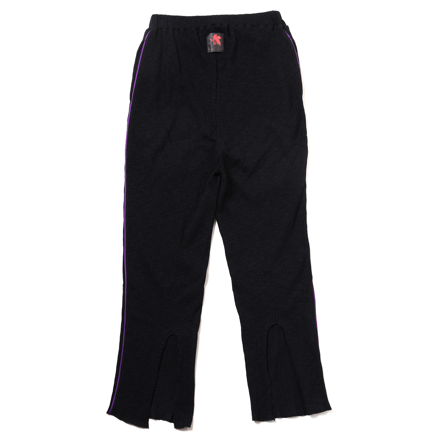 EVANGELION Rib Knit Pants(BLACK(NERV))