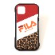 FILA × EVANGELION iPhone 12/12pro CASE (LEOPARD(RED))