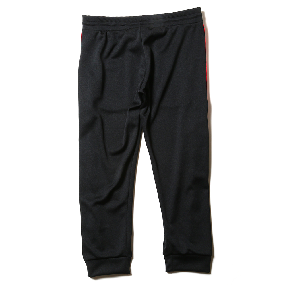 EVANGELION LINE TRACK PANTS (ブラック×レッド)