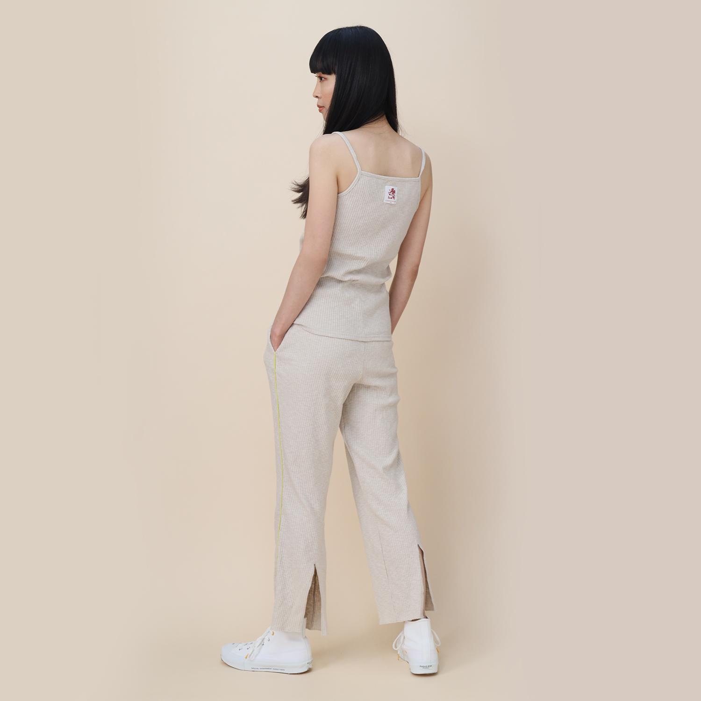 EVANGELION Rib Knit Pants(BEIGE(NERV2))