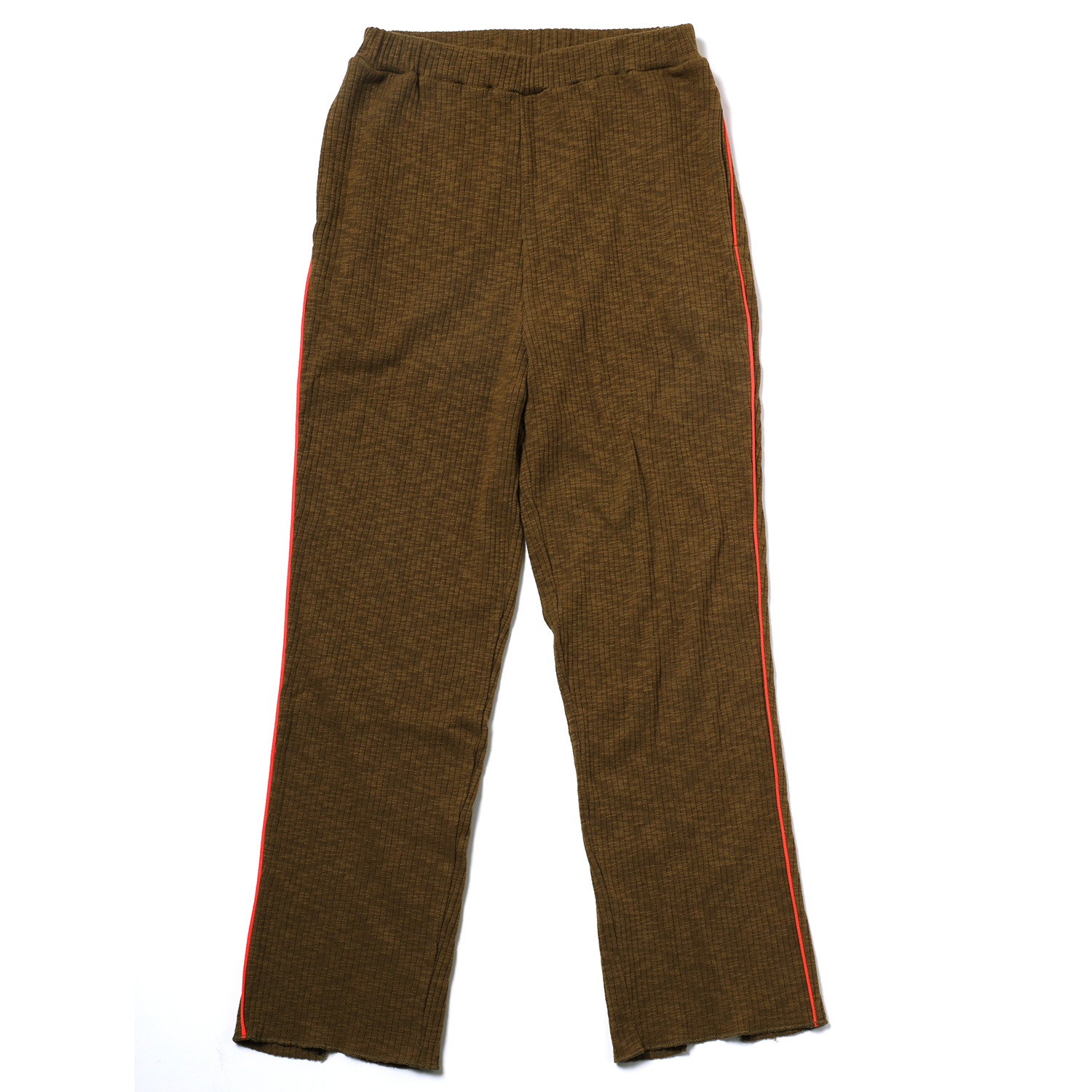 EVANGELION Rib Knit Pants(KHAKI(WILLE))