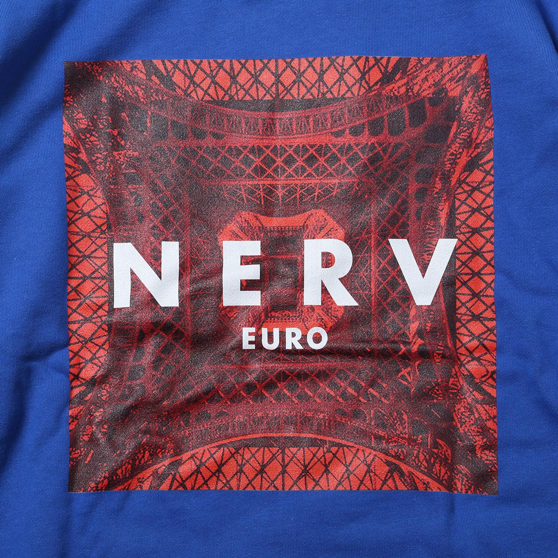 EURO NERV BOX LOGO Parka (ブルー)