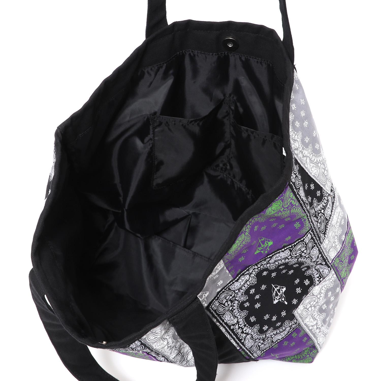EVA-01 BANDANA TOTE BAG (BLACK)