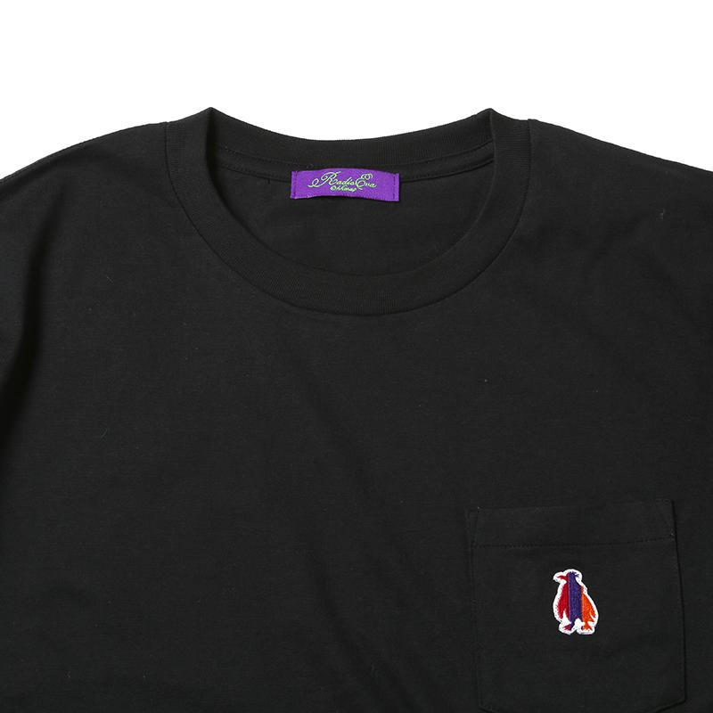 Patch PenPen Pocket T-Shirt (ブラック)