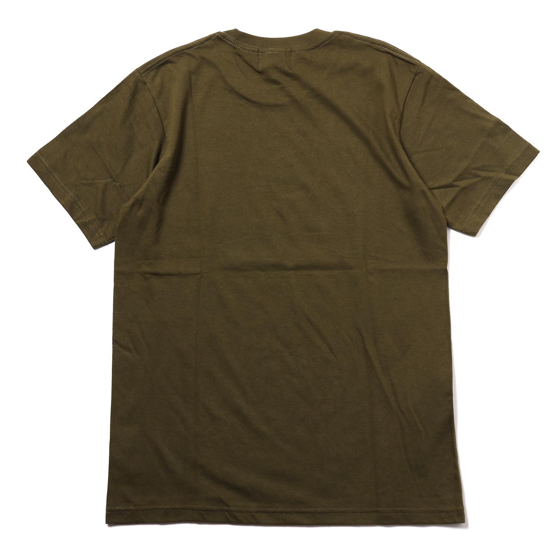 TYPOGRAPHY OF EVA index T-Shirt (OLIVE×NATURAL)