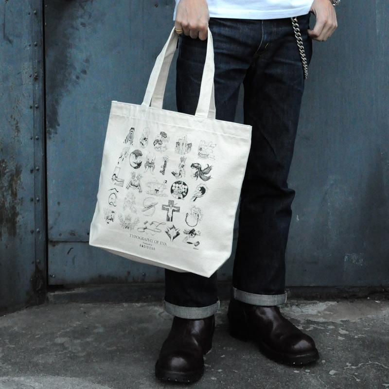 TYPOGRAPHY OF EVA index Tote Bag (ブラック)