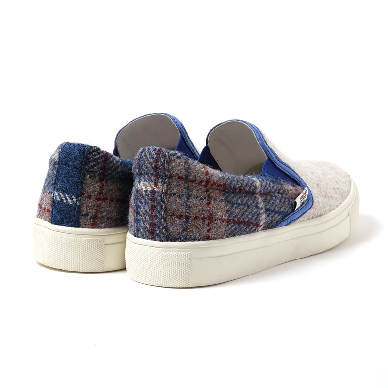 EVA × HarrisTweed Linkage SLIP-ON (ホワイト(レイ))