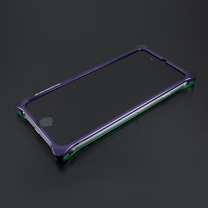 Solid Bumper for iPhone6/6s (EVANGELION Limited) (Purple×Green)