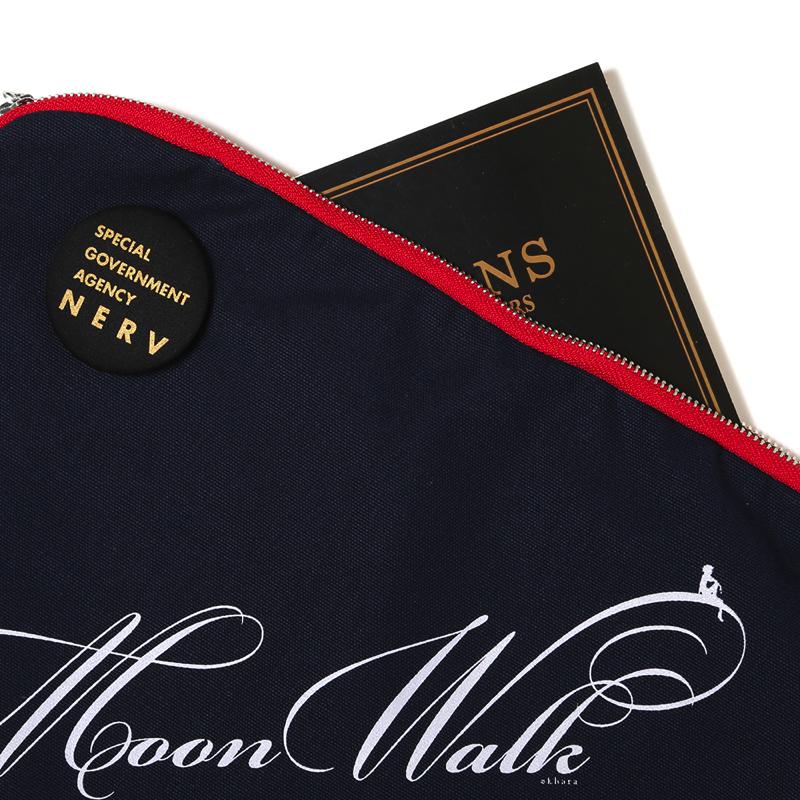 Moon Walk Canvas Clutch Bag(ネイビー)
