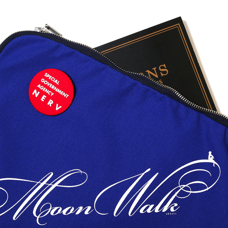 Moon Walk Canvas Clutch Bag(ブルー)