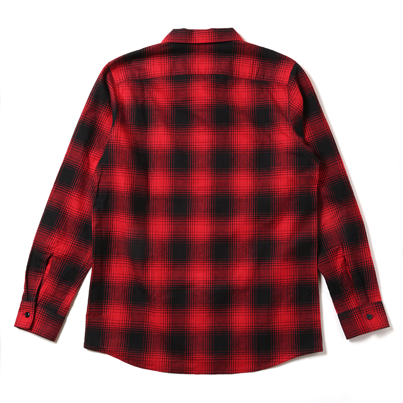 Moon Walk Dyed Flannel Check Shirts (レッド)