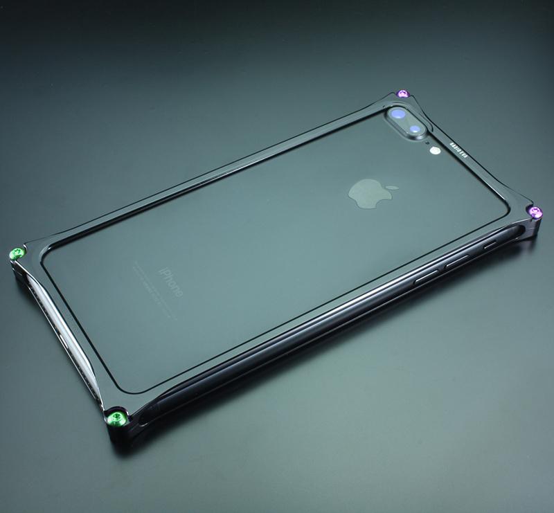 Solid Bumper for iPhone7Plus/8Plus (RADIO EVA Limited) (Polished Black(初号機))