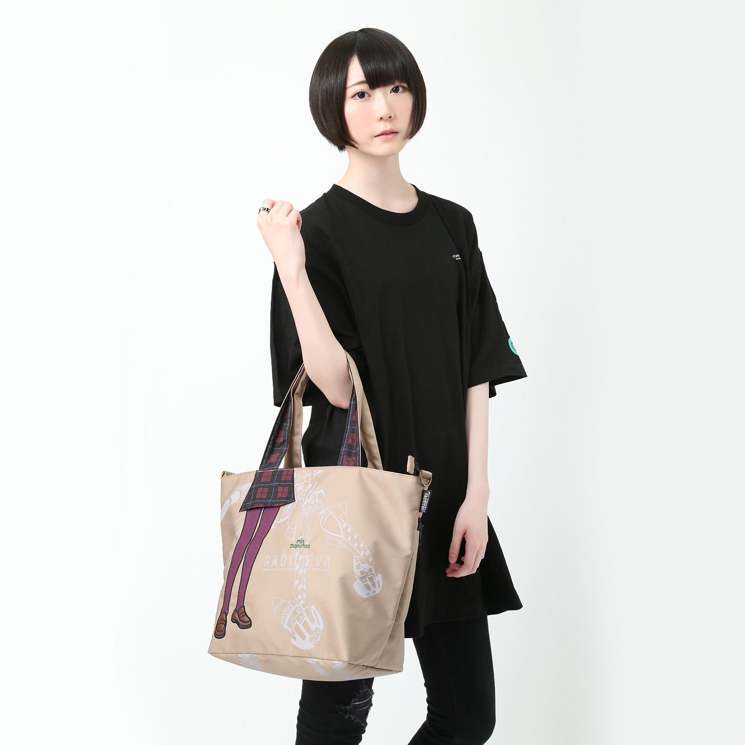 EVANGELION Pilot 2way Tote by mis zapatos (ベージュ(マリ))
