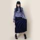 EVANGELION 2tone Knit Pleats Skirt (BLACK(EVA-01))