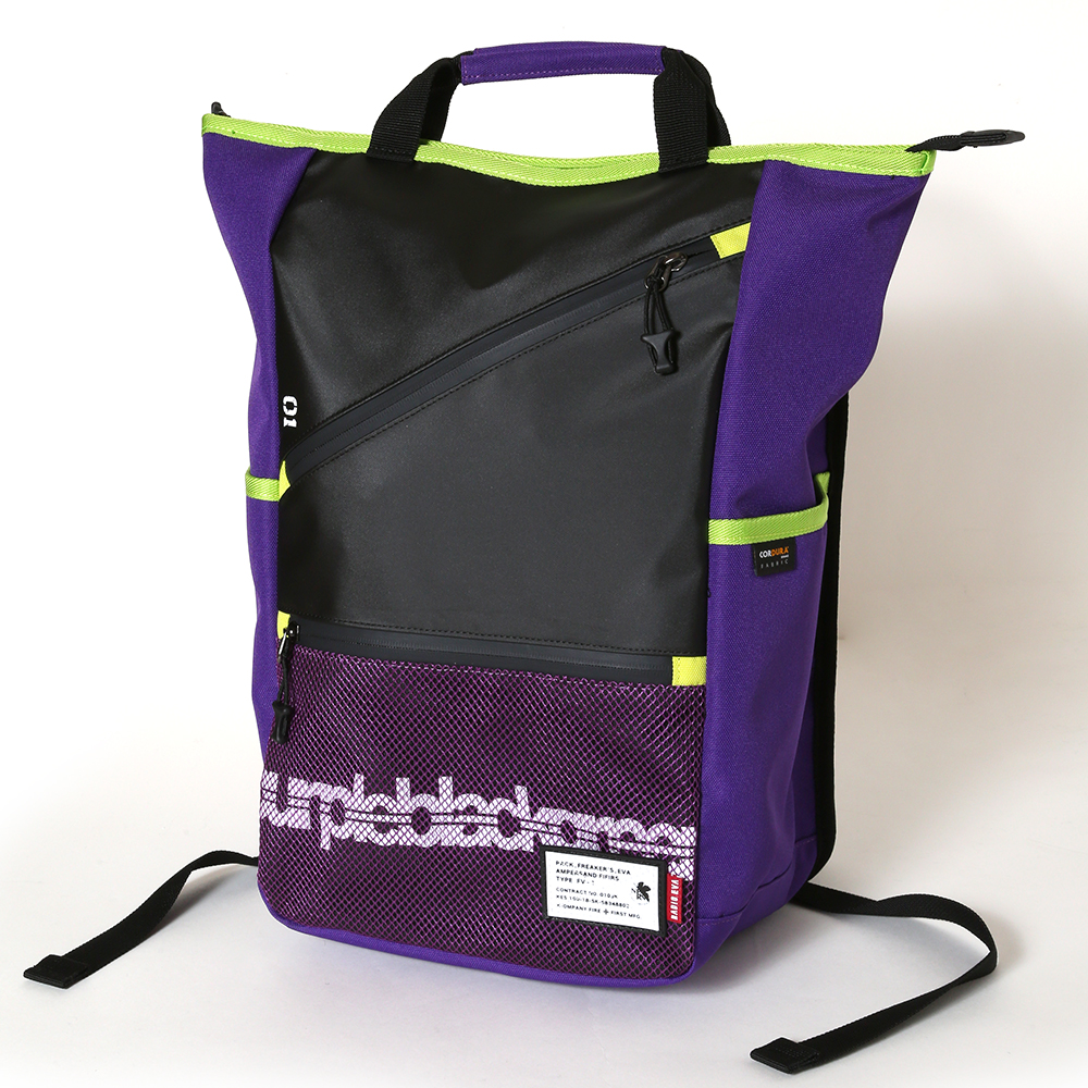 EVANGELION ZIP RUCK SACK by FIRE FIRST (EVA-01 MDOEL)