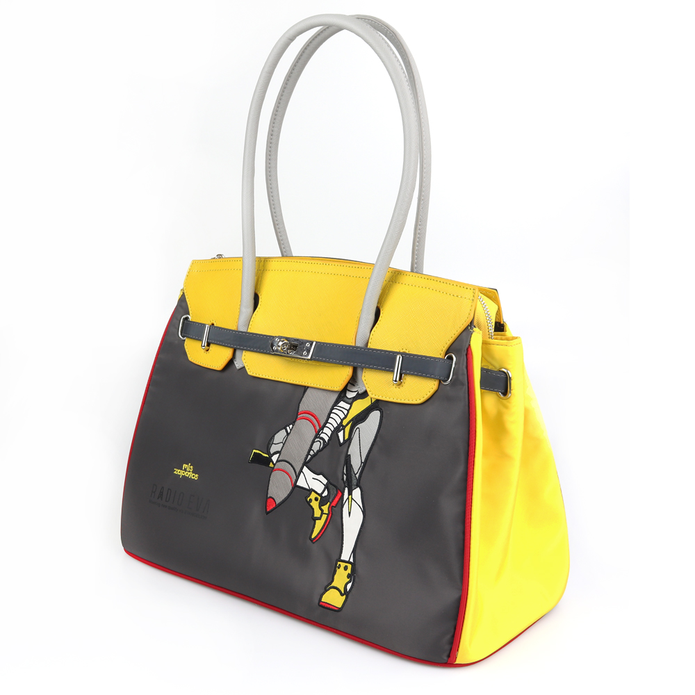 EVANGELION Large Boston Bag by mis zapatos (YELLOW(零号機))
