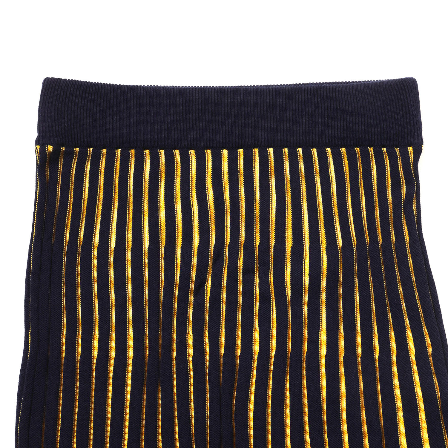 EVANGELION 2tone Knit Pleats Skirt (NAVY(Mark.06))