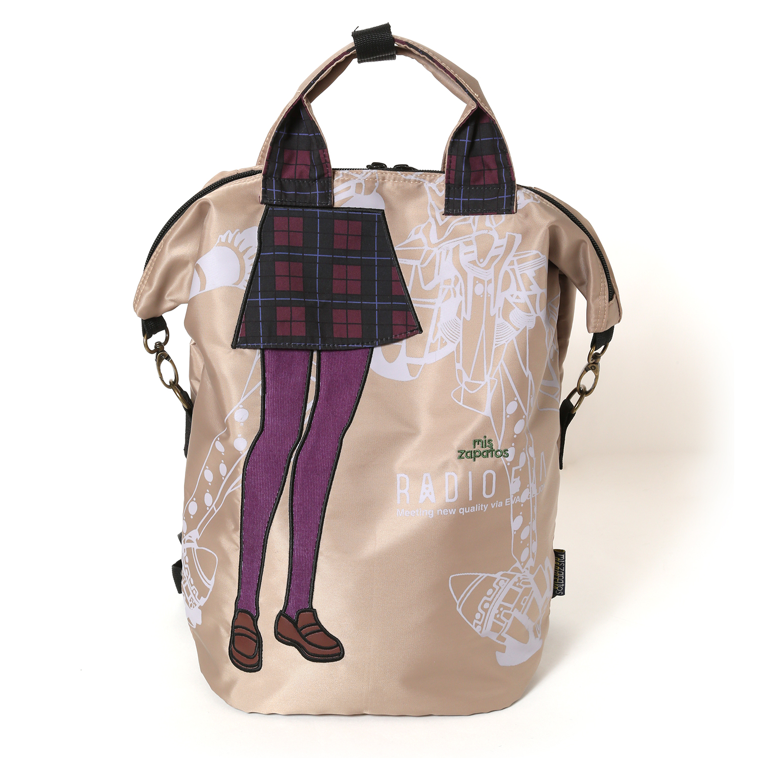EVANGELION Pilot 3way Back Pack by mis zapatos (ベージュ(マリ))