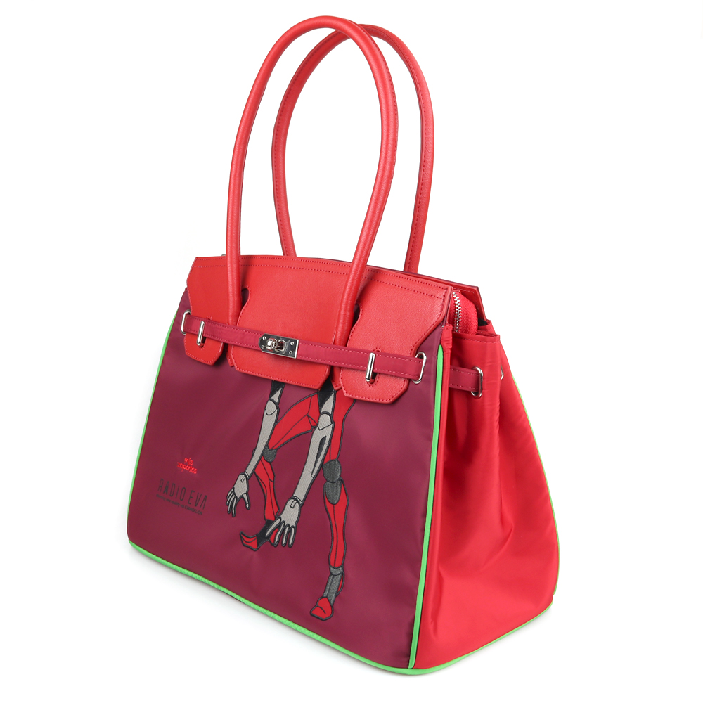 EVANGELION Large Boston Bag by mis zapatos (RED(2号機))
