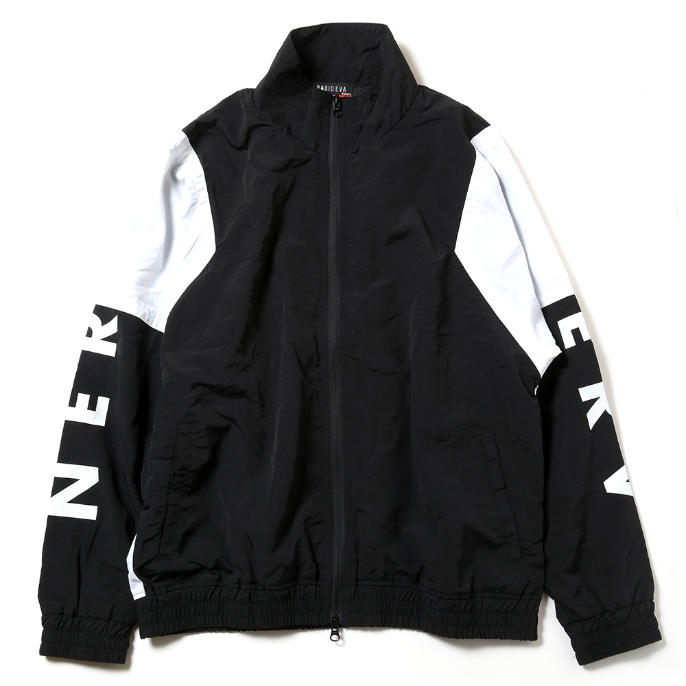 EVANGELION SWITCHING NYLON JACKET (ブラック×ホワイト(02))