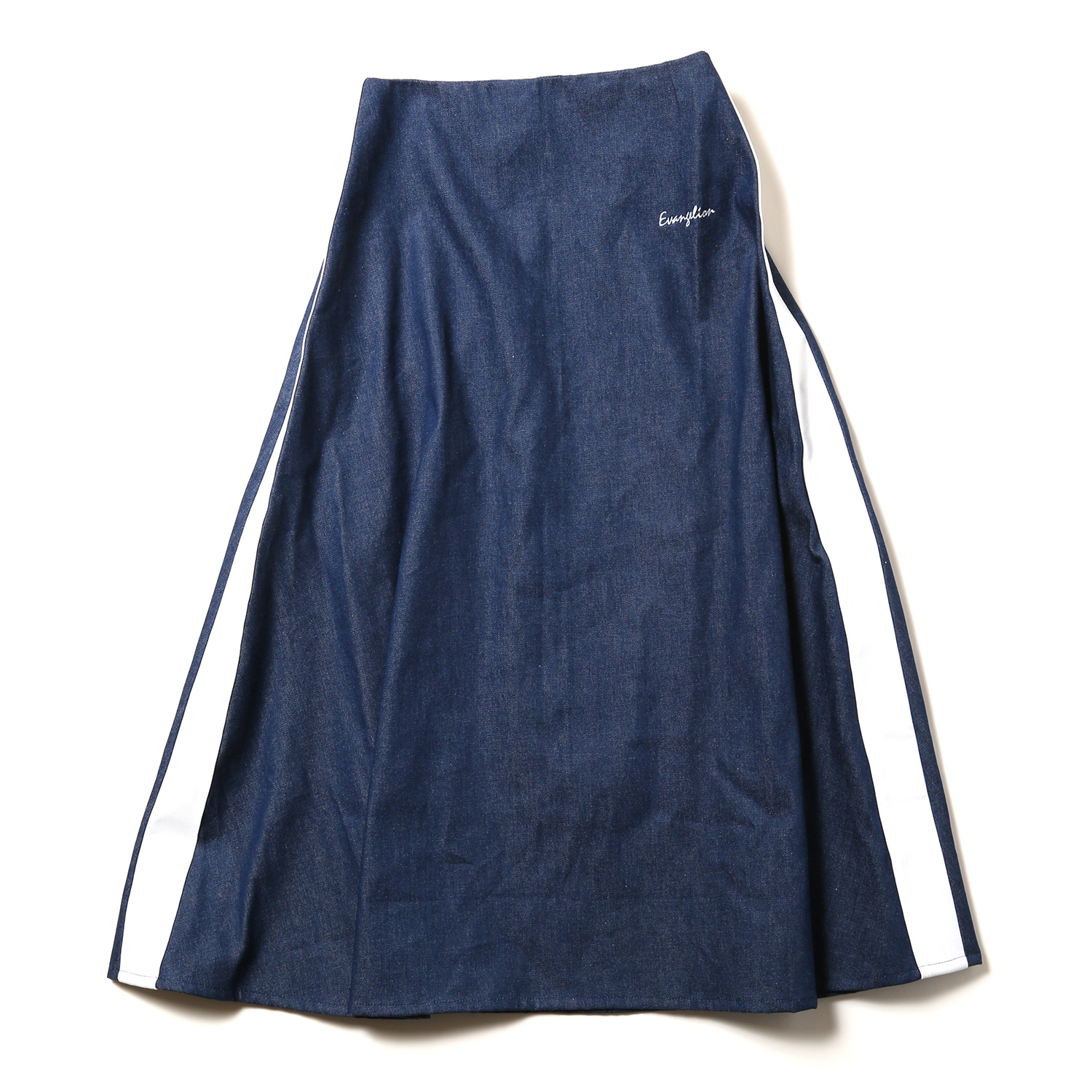 EVANGELION LINE DENIM LONG SKIRT (インディゴ)