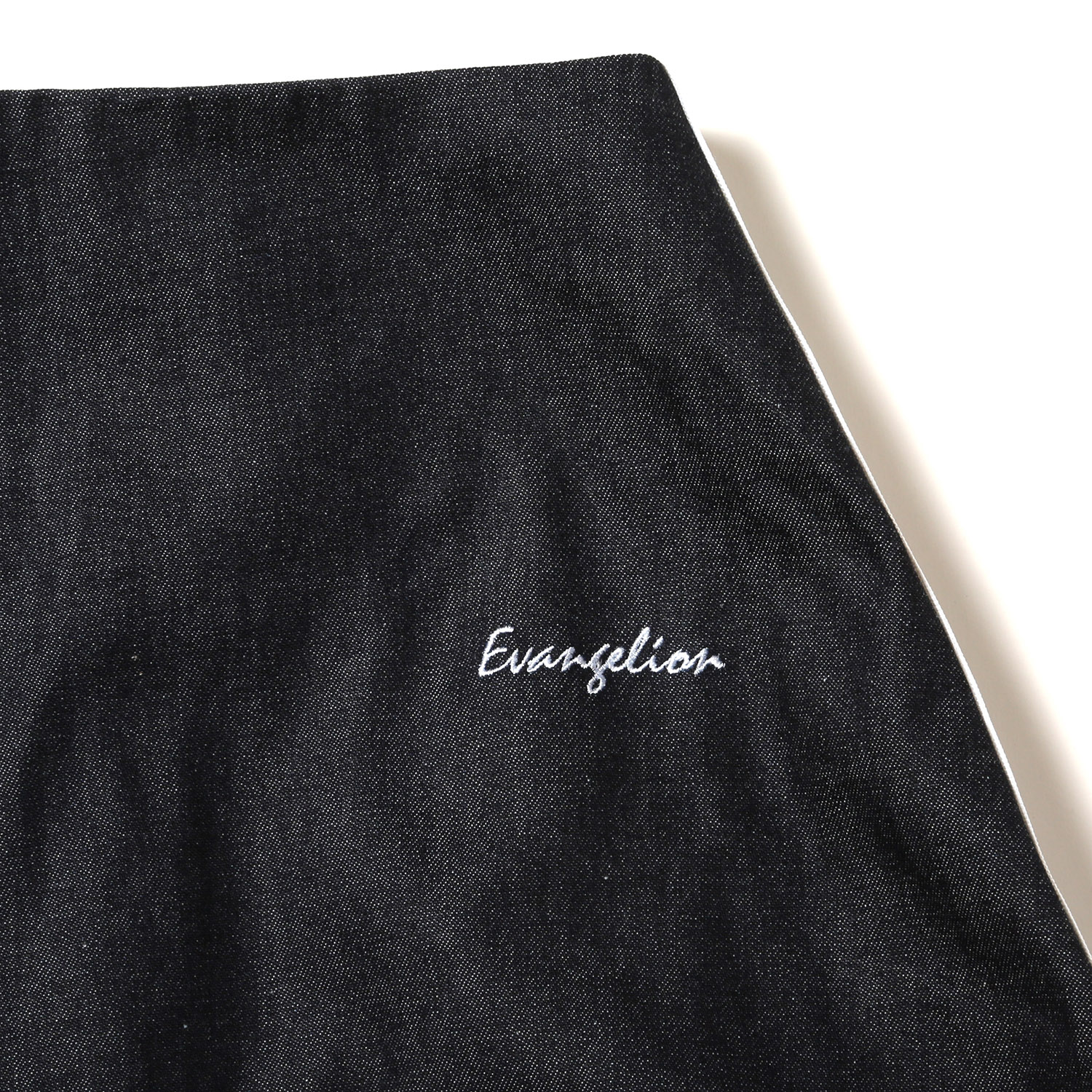 EVANGELION LINE DENIM LONG SKIRT (ダークンディゴ)