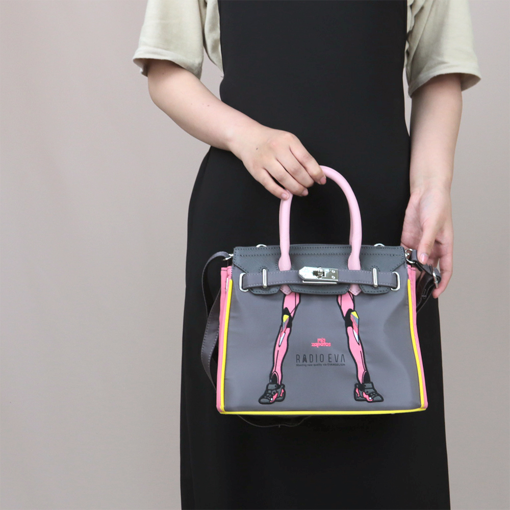 EVANGELION Small Boston Bag by mis zapatos (PURPLE(初号機))