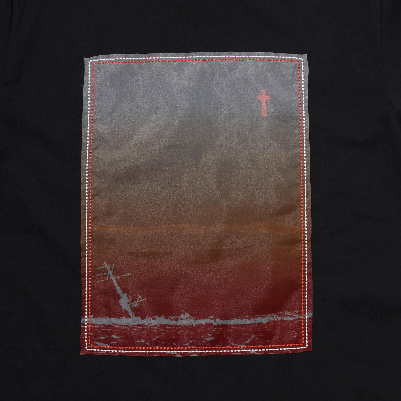 波打際 Organdy T-Shirts (BLACK(ORANGE))