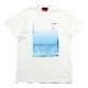 波打際 Organdy T-Shirts (WHITE(BLUE))