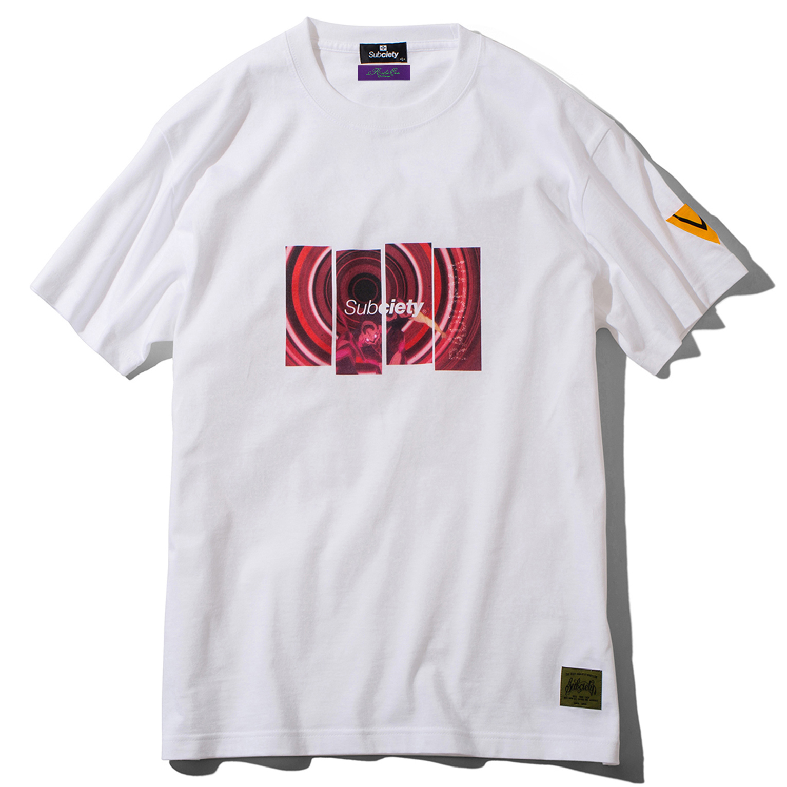DAMAGED RATIO S/S T-Shirt by Subciety (WHITE/RED)