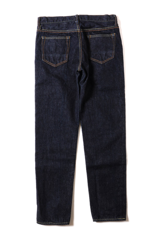 TEST TYPE 01 REGULAR STRAIGHT ONCE-WASHED GIRL'S DENIM (INDIGO BLUE)