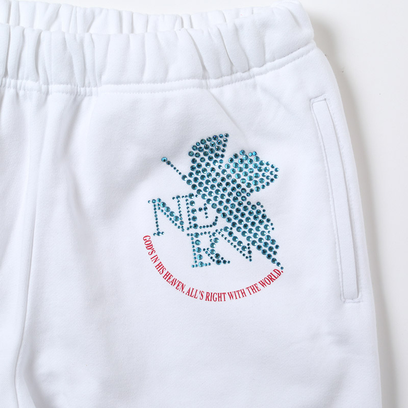 EVA Rhinestone Sweat Pants (ホワイト(レイ))