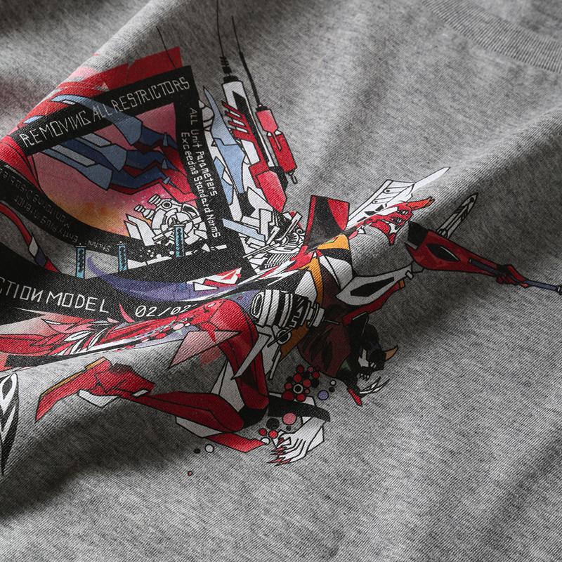 Abstract EVANGELION T-Shirt(KENTA KAKIKAWA) 2号機(ホワイト)