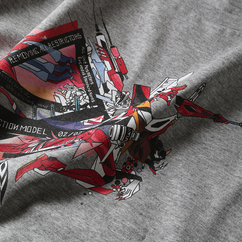 Abstract EVANGELION T-Shirt(KENTA KAKIKAWA) 2号機(グレー)