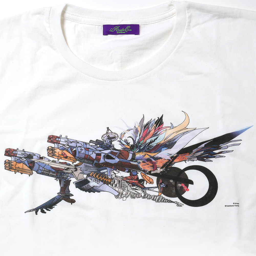 Abstract EVANGELION T-Shirt(KENTA KAKIKAWA) AAAヴンダー(ホワイト)