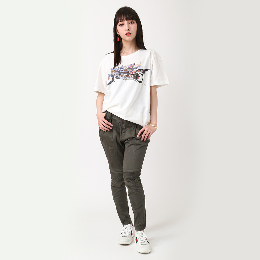 Abstract EVANGELION T-Shirt(KENTA KAKIKAWA) AAAヴンダー(ホワイト)