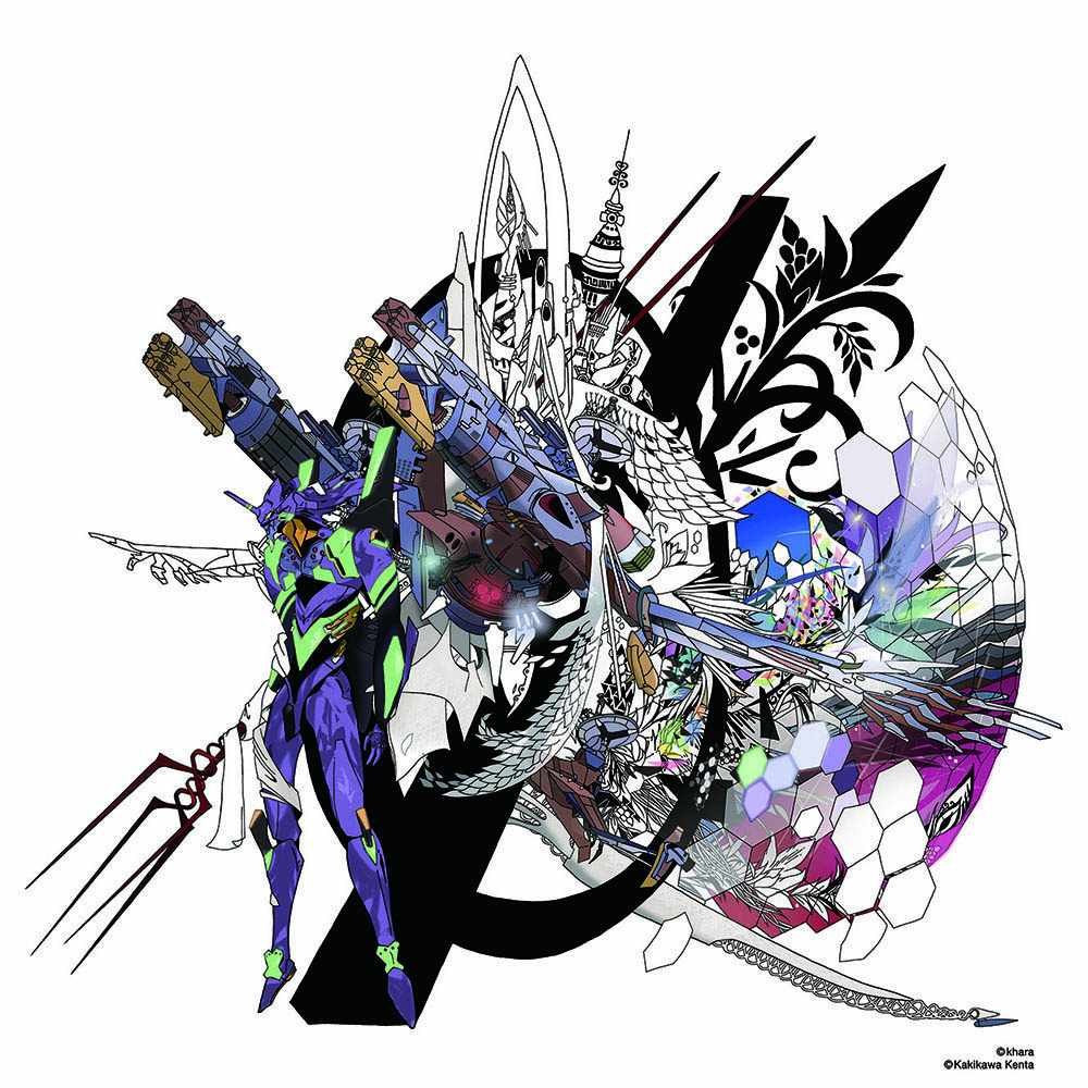 Abstract EVANGELION Cutsew (KENTA KAKIKAWA) (WHITE(初号機β))