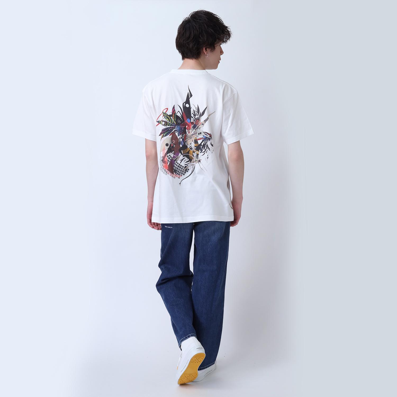 Abstract EVANGELION T-Shirt β(KENTA KAKIKAWA)(WHITE(使徒))