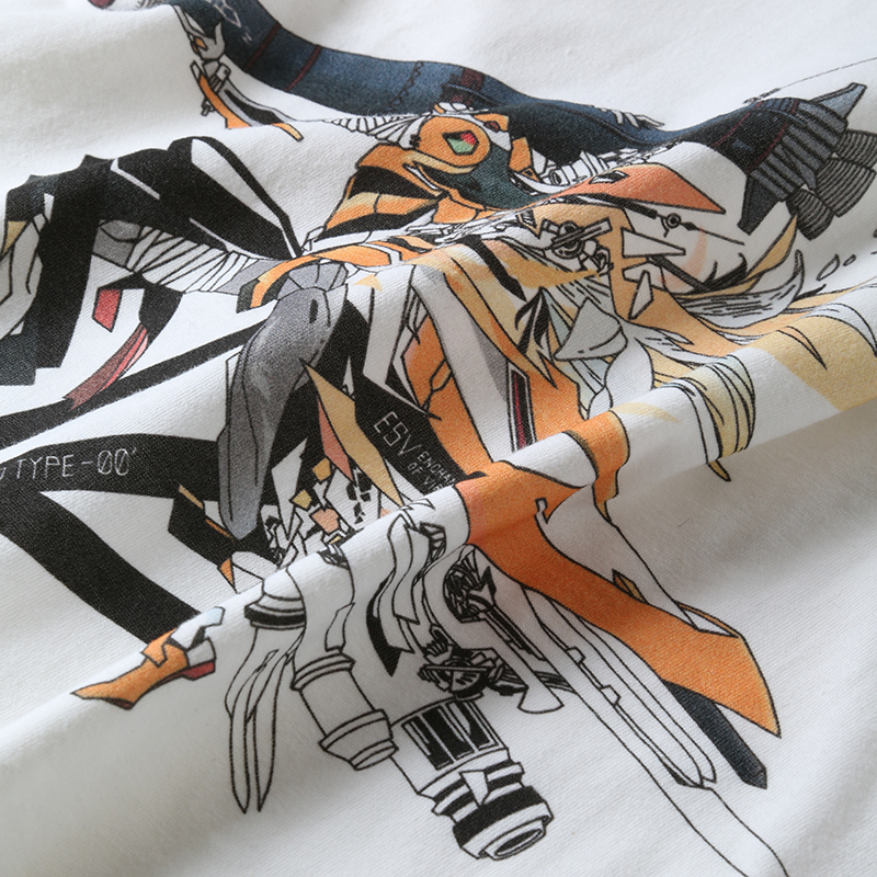 Abstract EVANGELION T-Shirt β(KENTA KAKIKAWA)(WHITE(零号機))