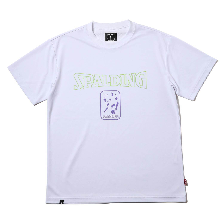 SPALDING EVA-01 Dry mesh T-Shirt (White x Green)