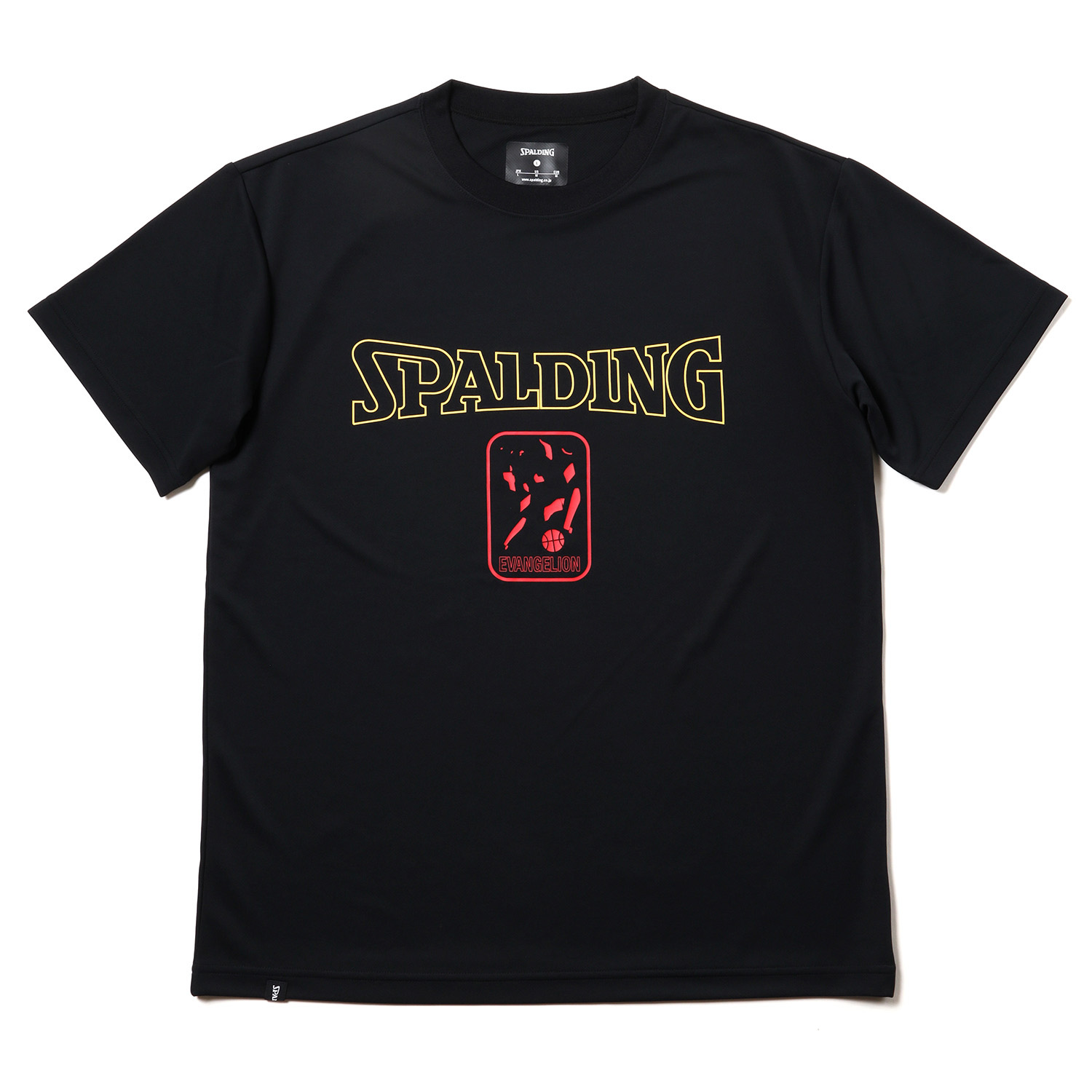 SPALDING EVA-01 Dry mesh T-Shirt (Black x Red)