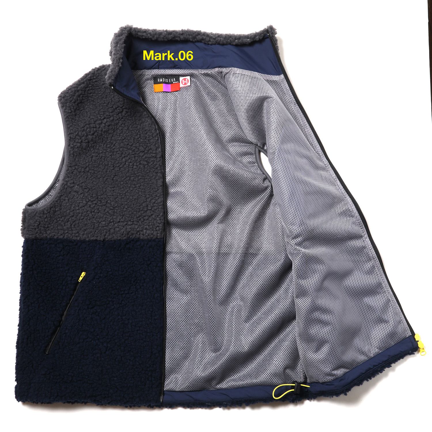 EVANGELION BOA VEST (NAVY×GRAY(Mark.06))