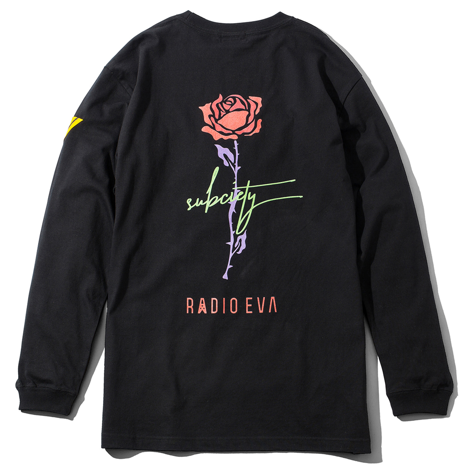 ROSE 01 L/S T-Shirt (BLACK)