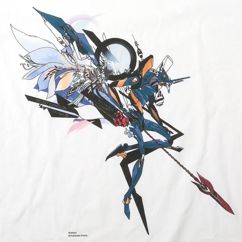 Abstract EVANGELION T-Shirt β(KENTA KAKIKAWA)(WHITE(Mark.06))
