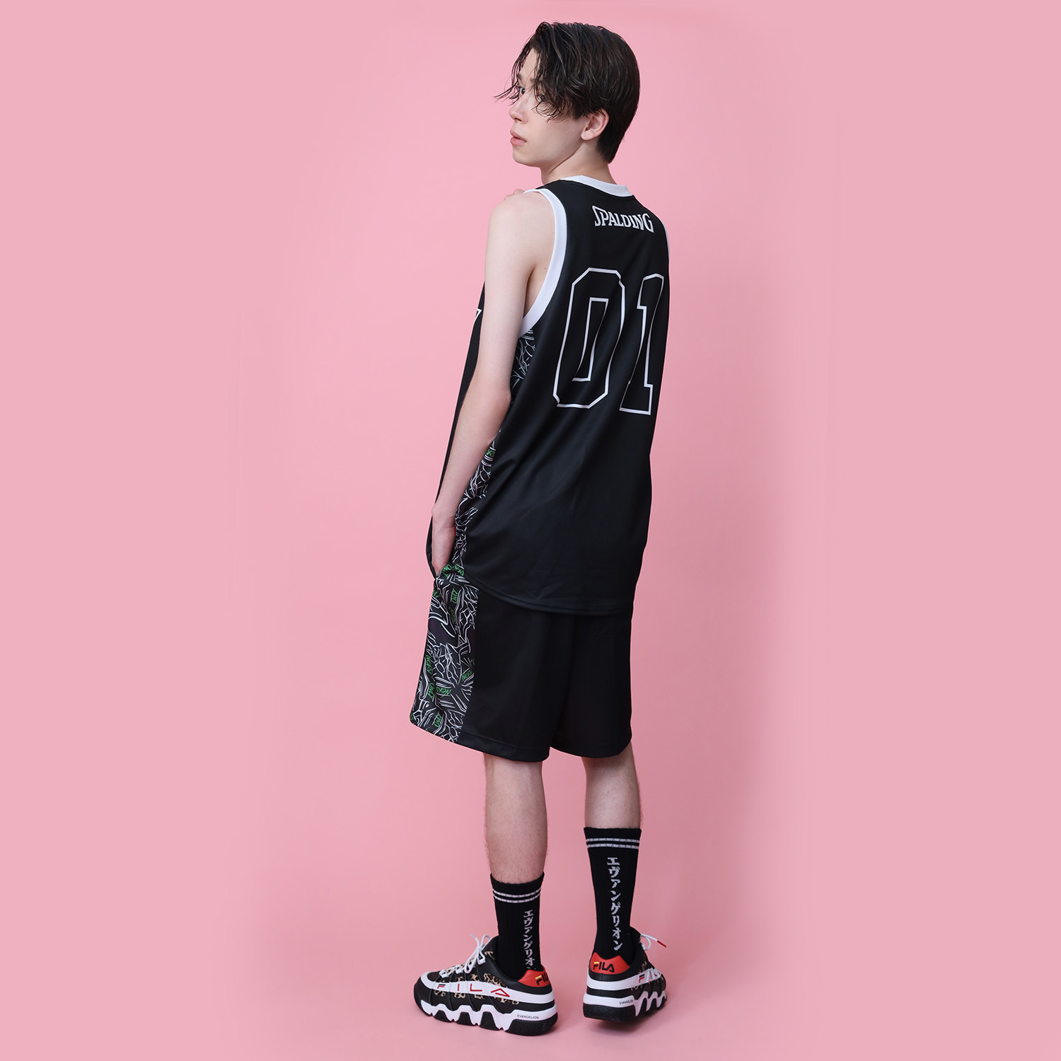 EVA-01 Tank Top by SPALDING (Black × Multi)