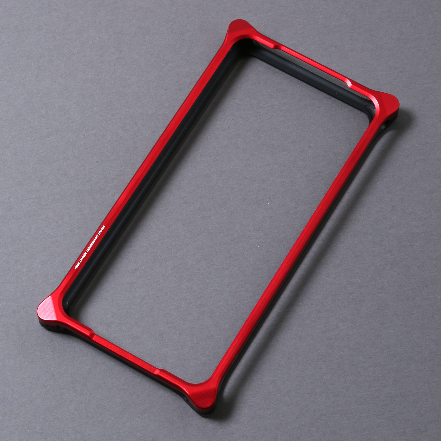 Solid Bumper for iPhoneX/XS (RADIO EVA Limited) (Red×Black(NERV))