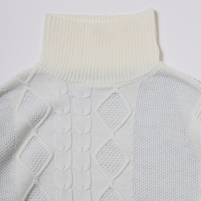 EVANGELION Panel Turtleneck Knit (WHITE(REI))
