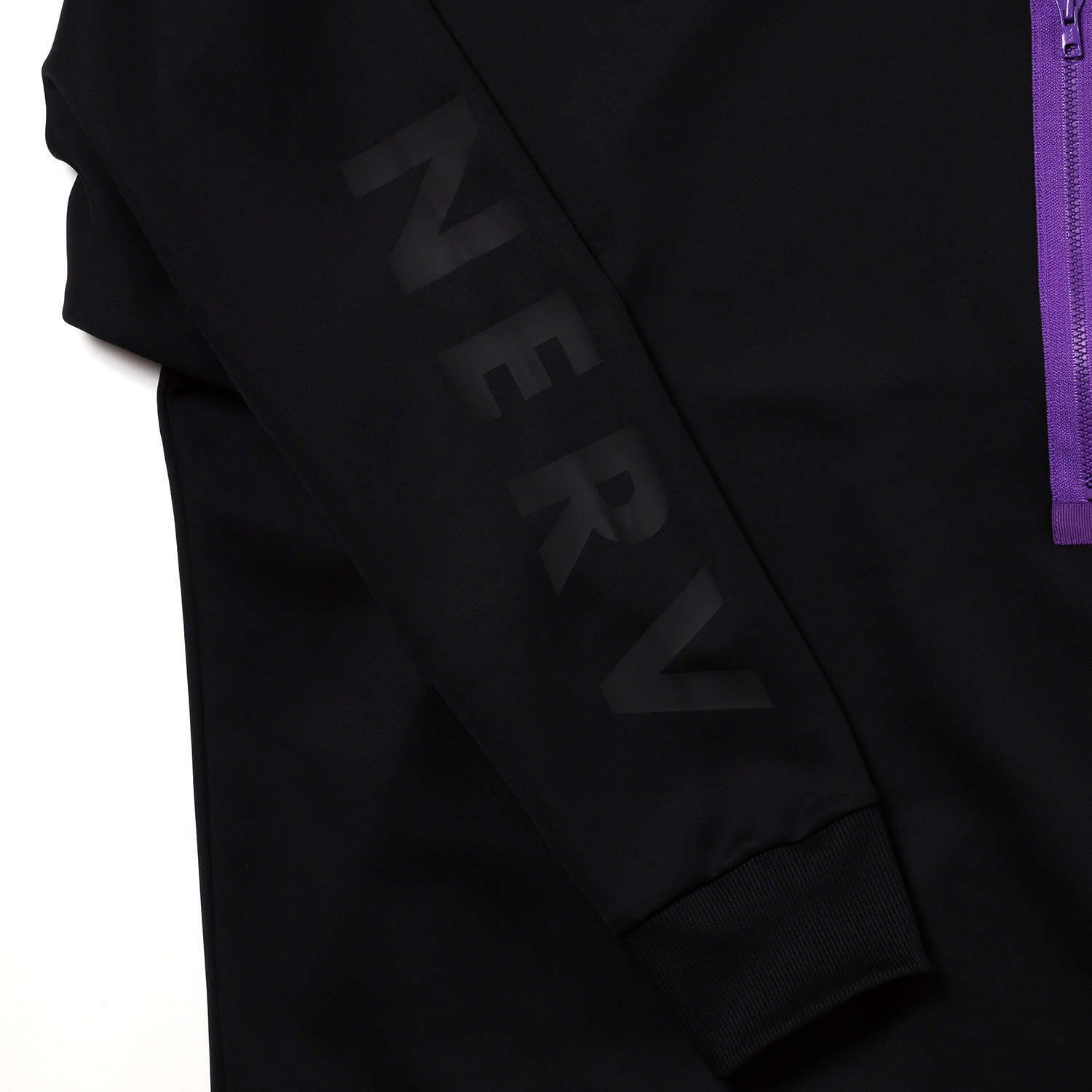 NERV Sweat Shirts by SPALDING (Black x Green)