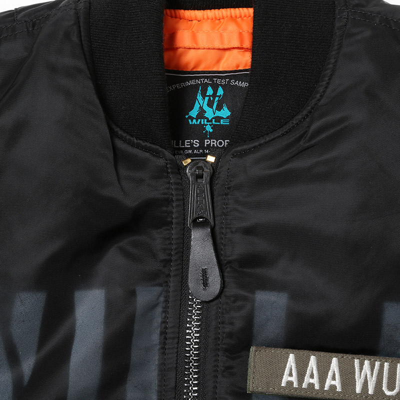 "RADIO EVA × ALPHA MA-1 ""KAMIKAZE CUSTOM"" WILLE EDITION (BLACK)"